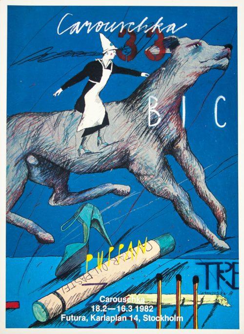 Caroschka Stockholm 1982 Poster