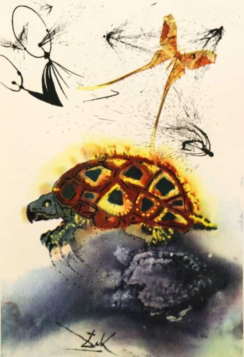 The Mock Turtles Story Salvador Dali Alices Adventures In Wonderland origina