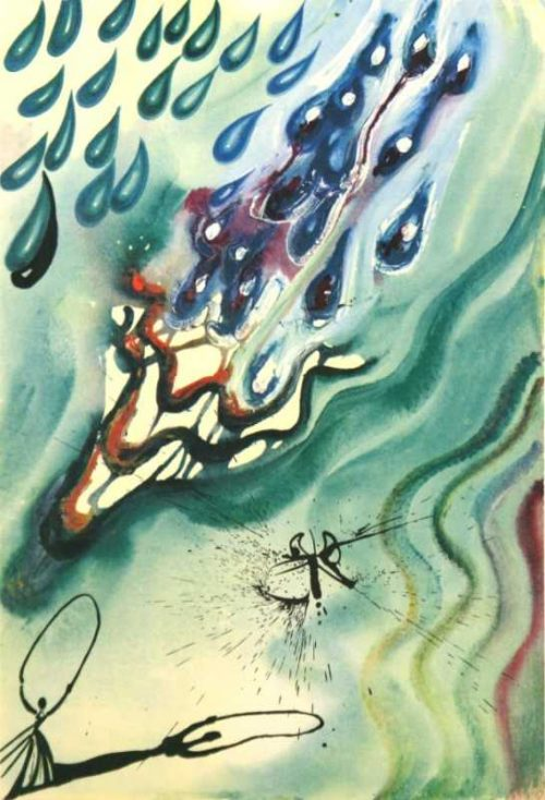 The Pool Of Tears Salvador Dali Alices Adventures in Wonderland original for sale