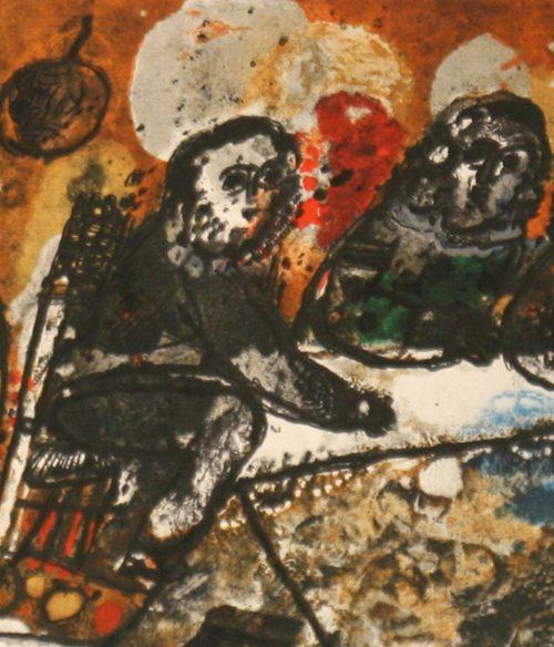 Tobiasse Assemblee original lithograph artists proof detail 2