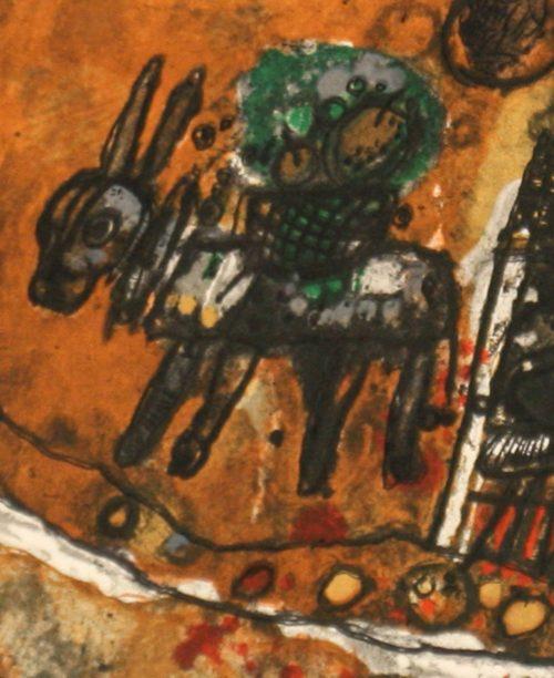 Tobiasse Assemblee original lithograph artists proof detail 3