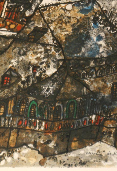 Tobiasse Assemblee original lithograph artists proof detail 4