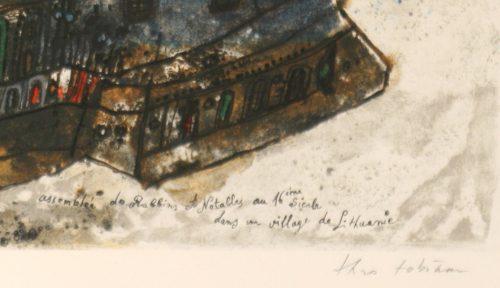 Tobiasse Assemblee original lithograph artists proof detail 5