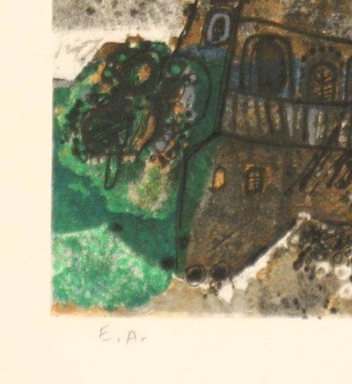 Tobiasse Assemblee original lithograph artists proof detail 6