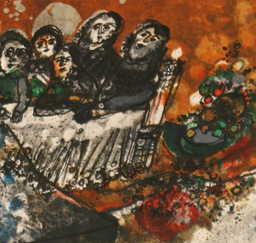 Tobiasse Assemblee original lithograph artists proof detail1