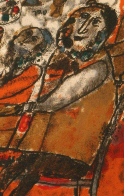 Tobiasse Sedar original lithograph detail 1