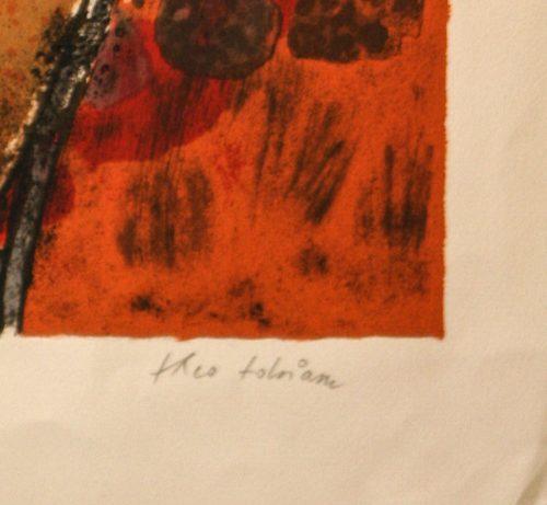 Tobiasse Sedar original lithograph detail 5