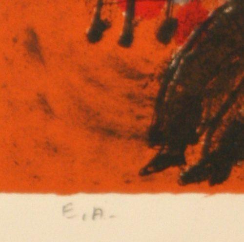 Tobiasse Sedar original lithograph detail 6
