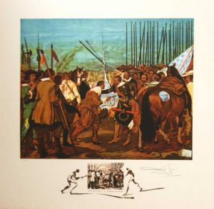 Velasquez Le Reddition De Breda original signed limited edition lithograph Salvador Dali for sale