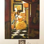 Vermeer La Lettre Salvador Dali Changes in Great Masterpieces series original signed limited edition lithograph