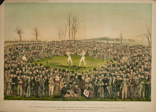 The International Contest Between Heenan and Sayers at Farnborough 1860.jpg.